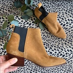 H&M brown suede leather boots size 6